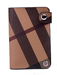 Women PU Casual Card & ID Holder - Brown / Gray