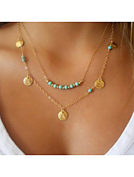 Jewelry Pendant Necklaces / Layered Necklaces Wedding / Party / Daily / Casual Alloy / Turquoise 1pc Women Wedding Gifts