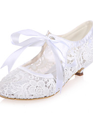 Women's Spring Summer Fall Lace Wedding Party & Evening Low Heel Black Pink Ivory White