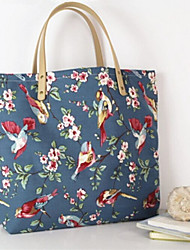 Women Canvas Casual / Outdoor Tote Blue