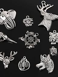 beadia pingentes charme de metal forma da cabeça do lobo tigre dragão deer elefante jóias antigas diy pendant