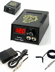 FTTATTOO® Digital Tattoo Power Supply Kit with Clip Cord Foot Pedal Set
