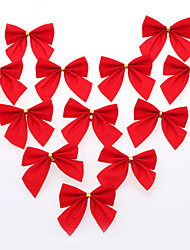 12 PC DIY Weihnachtsbaumdekoration roten Schleife Geschenk für Weihnachten Party