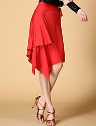 Latintanz - Röcke ( Schwarz / Rot / Leopard Muster , Chinlon / Elastan , Latintanz ) - für Damen