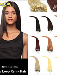 Top Quality Micro Ring Hair Loop Hair Human Hair Extension Natural Straight 1.0 Gram/Strand 100 Strands/Lot