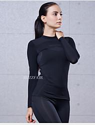 Running Sweatshirt Women's Short Sleeve Quick Dry Tactel Fitness / Racing / Running Sports Sports Wear StretchyIndoor / Outdoor clothing
