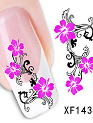 1 PCS 3D Water Transfer Printing Nail Stickers XF1434
