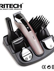 PRITECH Brand Hair Clipper 6 In 1 Hair Trimmer Shaver Sets Professional Titanium Hair Trimmer Hair Cutting Machine