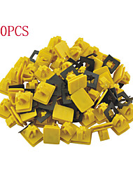 50 Pcs Car Auto Fender Rectangular Push in Plastic Rivets Fastener