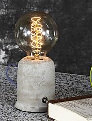 Vintage Loft Concrete Cement Table Lamp Bedroom Lamps Home Decorative luminarias Bar Coffee Light Fixtures