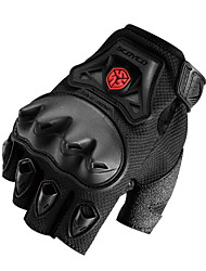 Outdoor Sportswear Protective Gear Cycling Racing Ridding Motocycle Half Finger Gloves Black -Scoyco