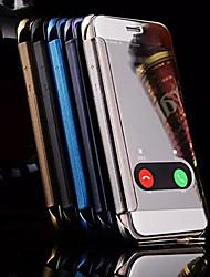 Para iPhone X iPhone 8 iPhone 6 iPhone 6 Plus Case Tampa com Visor Espelho Corpo Inteiro Capinha Desenho Animado Rígida Metal para iPhone