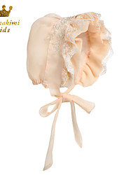 Lace Royal Baby Bonnet Handmade Champagne (Newborn - 3 Years)