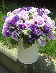 PU Rosas Flores artificiais