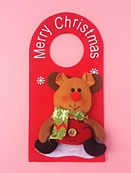 "23CM/9"" Christmas Decoration Gift Doornob Reindeer Doll Hanging Plush Toy New Year Gift"