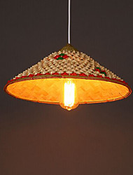 Coffee Bar Bamboo Hats Hat Chandelier Lamp