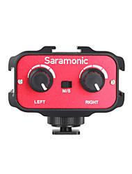 mezclador de adaptador de audio del micrófono universal de sr-AX100 con equipo de música&entradas de 3.5mm mono dual para cámaras