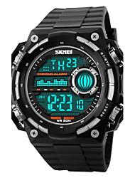 SKMEI Masculino Relógio Esportivo Relógio de Pulso Digital LCD Calendário Cronógrafo Impermeável alarme Relógio Esportivo Borracha Banda