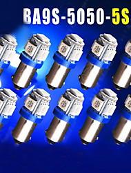 10pcs de ultra azul t11 BA9S 5050 del coche 5-SMD llevó bombillas lámparas T4W 3886x H6W 363
