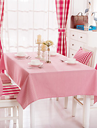 Red Striped Design  Jacquard  Tablecloths Fabric Tea Tablecloth