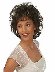 cortos pelucas de pelo sintético rizado mujeres de la señora la venta bien con la explosión lateral