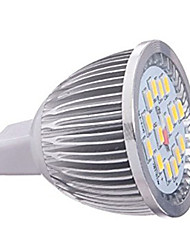 8w mr16 16xsmd5630 650lm couleur blanc chaud / froid spots LED ampoules (12v)