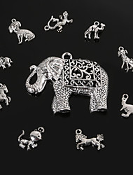 beadia antique metal prata pingentes charme forma de animal jóias diy pingente de 10 estilos