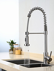 Contemporary Art Deco/Retro Modern Tall/High Arc Pull-out/Pull-down Kitchen Faucet Standard Spout Centerset Thermostatic Rain Shower Kitchen Tap