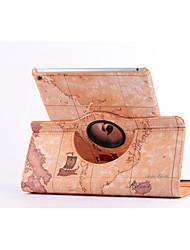 mapa do mundo 360⁰ caso stand design função de alta qualidade bolsa de couro pu para ipad 2 ar (cores sortidas)