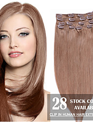 "20 ""goudblond (# 16) 7pcs klem in remy human hair extensions"