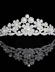 Europe And The United States Hot Style Bride Crown Pearl Diamond Hair Hoop Headdress Wedding Accessories
