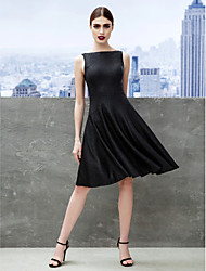 Cocktail Party / Company Party Dress A-line Bateau Knee-length Jersey with