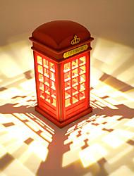 abs cabine de telefone retro personalidade criativa levou luz noite pequeno toque dimmer de carregamento pequena lâmpada de mesa 10 * 22