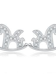 Eiligar Jewellery-Jenny 2015/10/25 17:24:45925 Sterling Silver CZ Stone Earring Korean Style Fashion Jewelry