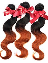 Peruanische Haarwebart bündelt Körperwelle zwei Ton ombre t1b / 30 peruanische reine Menschenhaarverlängerungen 1pcs 50g / pcs