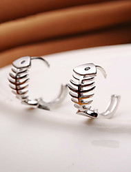 Earrings 925 Sterling Silver Fish Hoop Earrings Jewelry Wedding Party Daily Casual