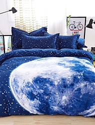 Mingjie® Bedding Sets 4pcs Queen Size adn King Size Boys and Girls Korean Blue Earth Bed Linen China Wholesale