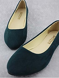 Women's Shoes Leatherette Spring / Fall / Winter Pointed Toe Casual Flat Heel Black / Green / Gray / Tan / Orange / Burgundy