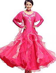 Ballroom Dance Outfits Women's Performance 2 Pieces Fuchsia / White / Yellow