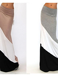 Women's Color Block Maxi Dress