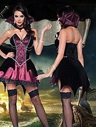 Noble Pirates of The Caribbean Skull Halloween Costumes For Women(Dress+Stand Collar)