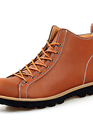 Men's Shoes Outdoor / Athletic / Casual Leather Boots Black / Brown
