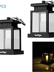 youoklight® 2pcs 0.06W 30lm branco quente solar, levou ao ar livre de acampamento pátio decoração da lâmpada