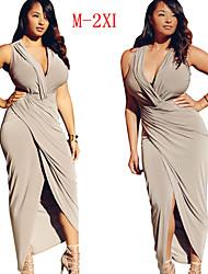 VIVI  Women's Solid Color Multi-color Dresses , Sexy / Party V-Neck Sleeveless