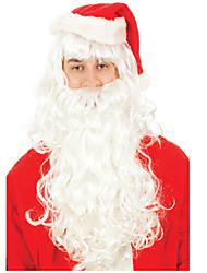 cabelo de alta qualidade necessário modelagem Noel Natal Papai peruca