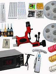 Red Dragonfly Tattoo Machine Kits Power Supply/ Rotary / 20 Needles/ 8 Tips/ 7 Inks Professional Supply