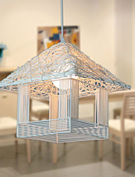 E27 30CM Line 1M Led The Cage Bird'S Nest Character Art Cany Art Single Head Small Droplight Lamp