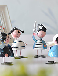 Creative Cute Tin Pirates Doll Mini Furnishing Articles