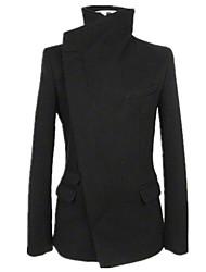 Men's Long Sleeve Regular Trench coat , Tweed Pure