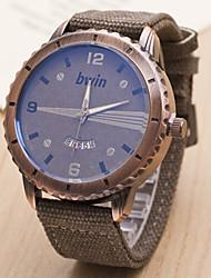w&cinturón de núcleo de alta calidad h de los hombres reloj de cuarzo resistente al agua reloj